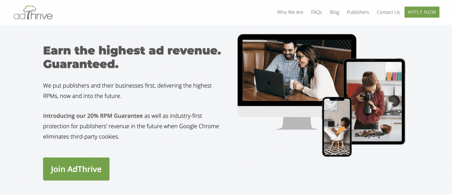 alternative to Google AdSense AdThrive