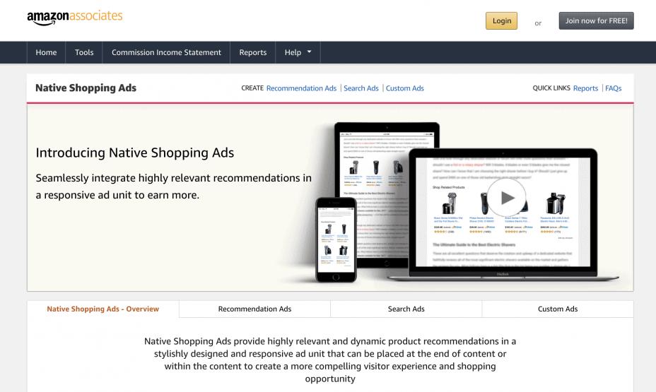 Amazon native ad platform